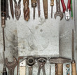 Old tools background
