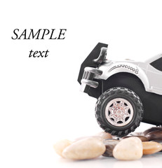 Off Roading on Rocks with Space for Text