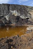 acidic waters in pyrite smelting landfill in Riotinto, Spain