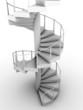 Leinwanddruck Bild - escalera de caracol