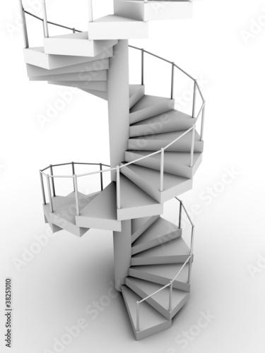 Leinwanddruck Bild escalera de caracol