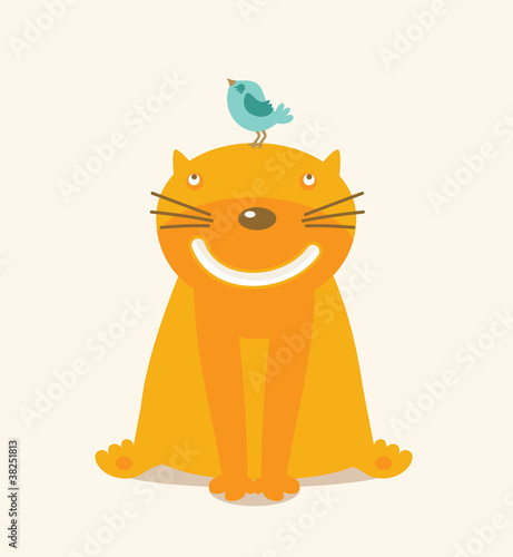 vector cartoon cat