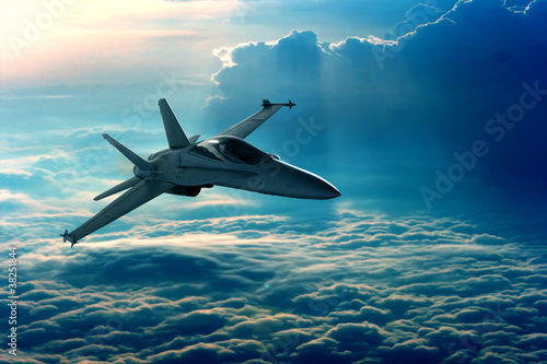 Plexiglas Vliegtuig Fighter jet