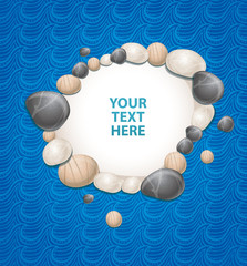 sea background with stones  - vector illustration
