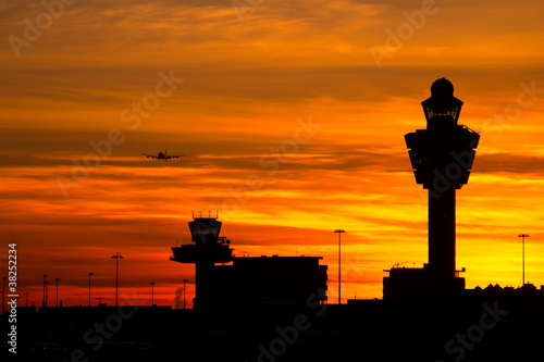 Leinwanddruck Bild Amsterdam Schiphol airport