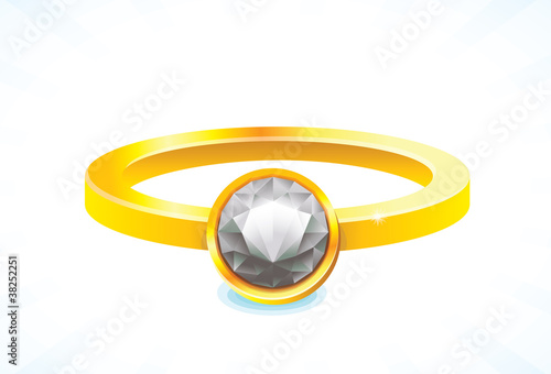 vector golden ring