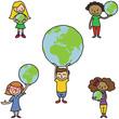 Kinder, Weltkugeln