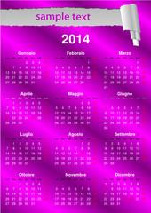 Calendario italiano 2014 (vettoriale)