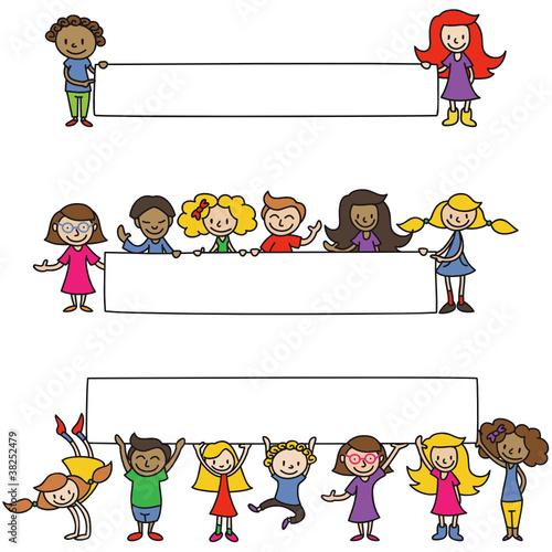 Vektor Kinder Plakate Banner