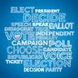 Sketchy vote text design