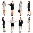 Full length portraits of businesswomen