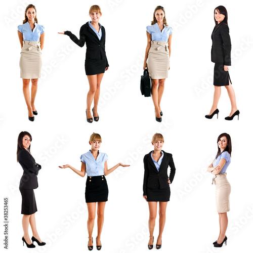 Full length portraits of businesswomen