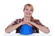craftswoman smiling