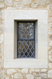 Leaded Church Window and Stonework. poster