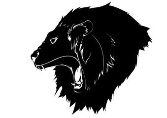 咆哮するライオン