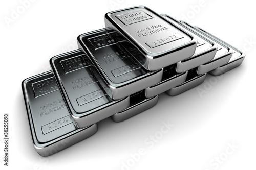 Pyramid of platinum ingots - 38255898