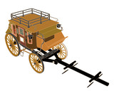 Stagecoach Without  Horses Vector 03 poster