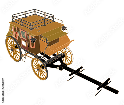 Stagecoach Without  Horses Vector 03