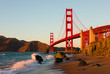 Golden Gate Bridge in San Francisco at sunset - 38257421