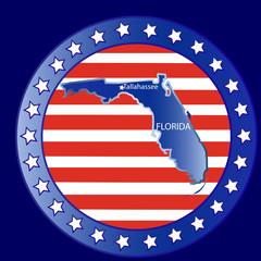 Florida state map seal