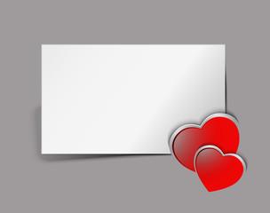 Gift card. Valentine's Day