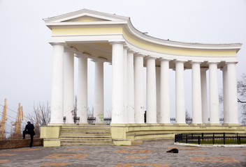 Temple next to Voronzov building, Odessa