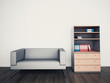 minimal modern interior couch office