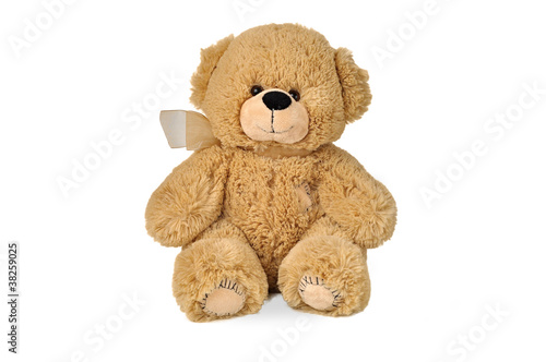 Teddy bear with patches
