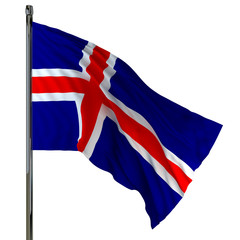 iceland flag / flag of iceland
