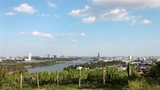 Time lapse Skyline danube valley vienna