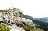 camping panoramic hike