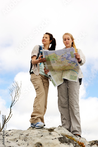 navigating map women