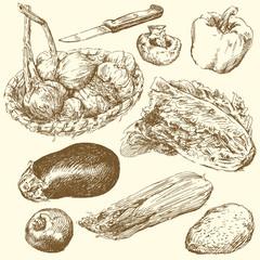 greengrocery-hand drawn set