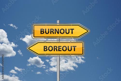 Wegweiser - Burnout Boreout