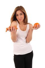Jugendliche macht Diät