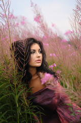 Soft Portrait Of Beauty Amongst Flowers