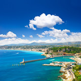 Fototapety View of mediterranean resort, Nice, Cote d'Azur, France