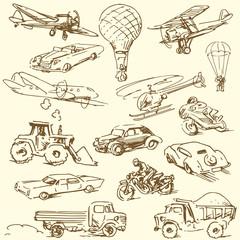 travel doodles - hand drawn