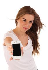 Jungendliche mit Smartphone