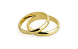 old wedding rings (clipping path ) - 38266248