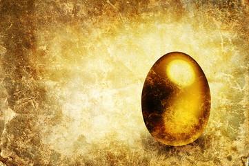 gold egg print