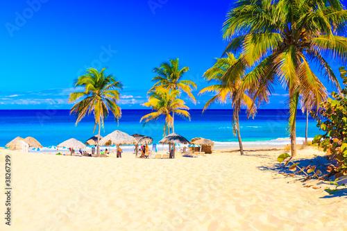 The beach of Varadero in Cuba
