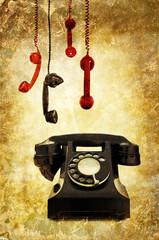 retro phone montage