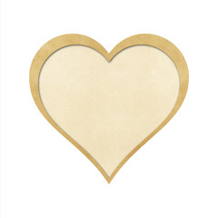 heart  recycled papercraft on white background