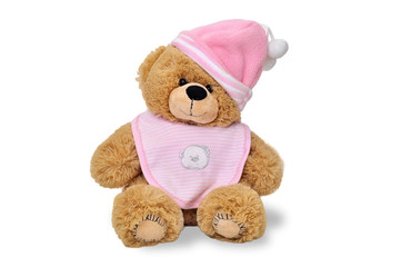 Teddy bear with pink hat