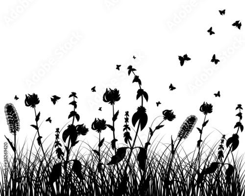 Naklejka meadow silhouette