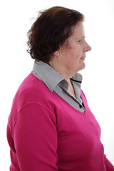 Seniorin im Profil