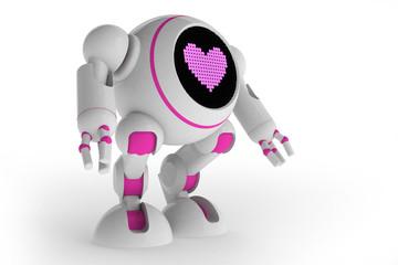 Girl robot in love