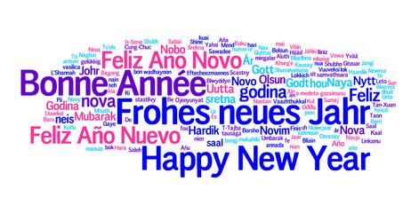 Neujahrswünsche in den Sprachen der Welt
