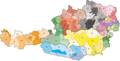 Österreich-Postleitzahlen